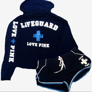 Victoria's Secret PINK Lifeguard jacket and shorts